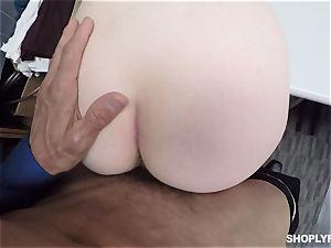 Ella Hughes screwed plums deep by horny mall cop