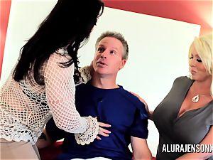 mummy detective Alura Jenson 3 way orgy
