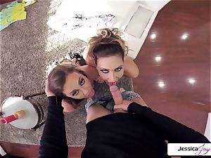Abigail Mac and Jessica get humped in many positions