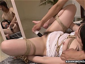 tramp getting treated like a superslut with a fuck-a-thon fucktoy