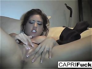 Capri Cavanni have fun with her raw pussy