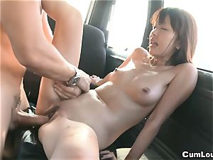 asian porn industry star Marica Hase smashed on Wheels