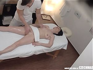 splooging brown-haired milf has heavy orgasm