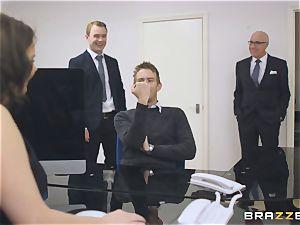 big-boobed secretary Tasha Holz gets a immense dick at work
