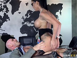 large boobed Peta Jensen penetrated throughout the boardroom table
