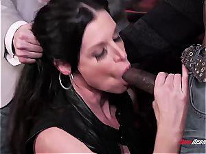 molten wifey India Summer climaxing on a dark-hued lollipop