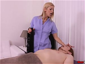 blonde mummy throbbing man sausage Having Some agonizing ejaculation