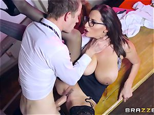 Lusty student Ella Hughes and her big-chested instructor sensuous Jane need your massive rock hard manhood