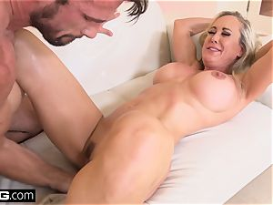 splattering Brandi enjoy luvs having a wood in her cunt