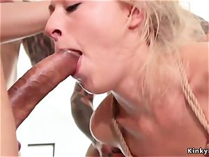 big-titted towheaded masturbating and boinking in group
