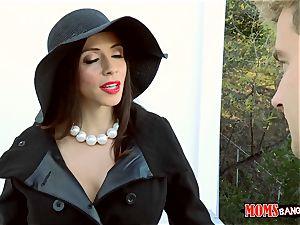 mommy Ariella Ferrera bangs nice teen Angel Del Rey and her boyfriend