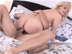 witnessing Bailey Blue banged rock-hard in tights