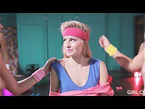 GIRLCORE Aerobics Class Leads to girly-girl unloading lovemaking
