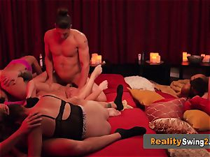 rosy room sizzles up when nasty couples arrive to meet and greet