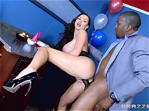Elections and ginormous black rod erections for Nikki Benz
