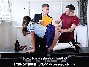 pornography ACADEMIE - nasty school damsel gets anal in 3
