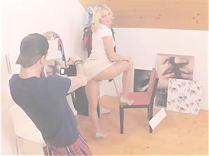 MY naughty ALBUM - stunning Czech blondie boinks photographer