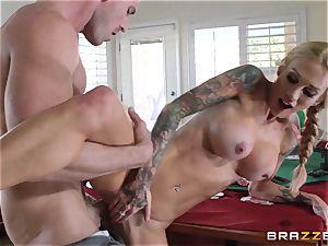 Sarah Jessie screwing her husbands poker buddy