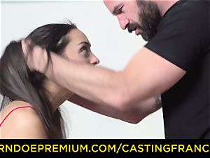 casting FRANCAIS - unexperienced cutie nailed and jism frosted