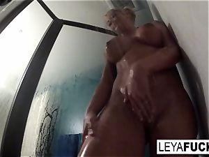 steaming meaty knocker blond takes a shower