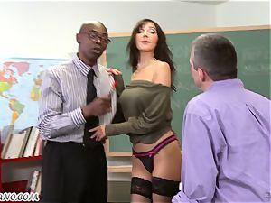 ebony boy penetrates his student's obscene mommy