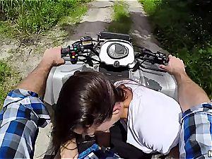 insatiable little mega-slut rails a spunk-pump in the middle of nowhere