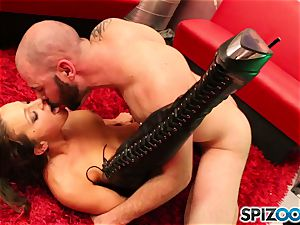 Spizoo - Abigail Mac blow and tear up a ample lollipop in Space