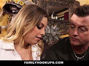 FamilyHookups - torrid blond Stepmom screws Her Stepson