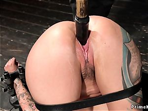 Alt brown-haired marionette puss toyed