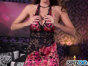 Spizoo-Watch Alison Tyler poking a huge cock gigantic baps