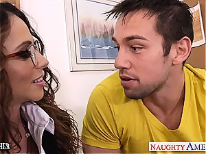 Ariella Ferrera super-naughty at college for a great banging from junior trunk