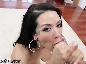 Katrina Jade getting the mouth treatment