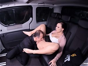 smashed IN TRAFFIC - Czech nubile car penetrate and internal ejaculation
