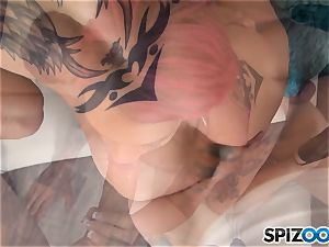 Anna Bell Peaks torrid jizz drinking three