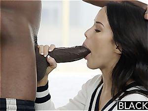 BLACKED Megan Rains first experience With ample black pink cigar Part 1