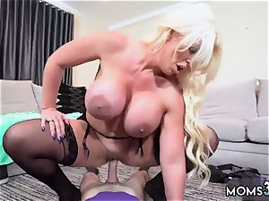 mummy milf hj beauty Step mommy s new screw toy