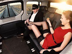 screwed IN TRAFFIC - british Tina Kay boned in the car