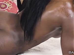 Ana Foxxx well-lubed up and pummeled deep in her minge