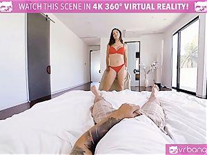VR porno - chesty Abella Danger casting bed get nasty