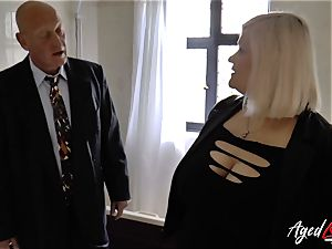 AgedLovE Mature dame Lacey Starr throating rock-hard beef whistle