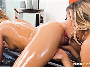 slippery fun with Jessa Rhodes and Cali Sparks