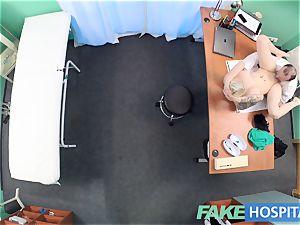 fake health center Flirty tattooed minx demands quick hump