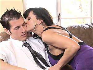 enormous titted stunner Lisa Ann bags herself a toyboy