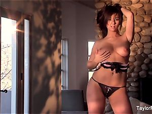 tease and masturbation with buxomy honey Taylor Vixen