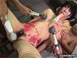 japanese tart likes to be sadism & masochism handled to a paraffin wax display