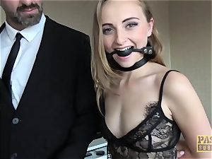 PASCALSSUBSLUTS - girl Bug gagging on dick before anal
