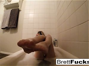 Brett Rossi takes a molten bathtub that makes her real wild