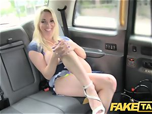 faux cab new driver gives steaming light-haired good anal invasion hump