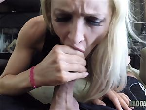 Alix Lynx pov muff thrashed by her step-father