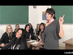student fuck-fest featuring London Keyes and more!
